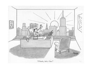 """Thanks, baby. Ciao."" - New Yorker Cartoon by Jack Ziegler"