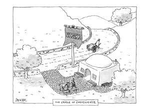 The Cradle of Convenience - New Yorker Cartoon by Jack Ziegler