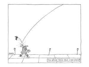 """""""Tiny Grand Piano From Outer Space!"""" - New Yorker Cartoon by Jack Ziegler"""