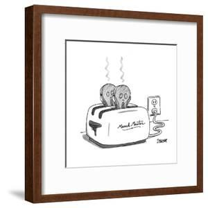 Toaster labeled 'Munch Master' has two pieces of burnt toast popping up. T? - New Yorker Cartoon by Jack Ziegler