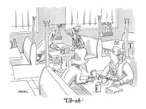 """Uh-oh."" - New Yorker Cartoon by Jack Ziegler"