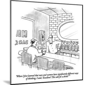 """""""When I first learned that men and women have significantly different ways…"""" - New Yorker Cartoon by Jack Ziegler"""