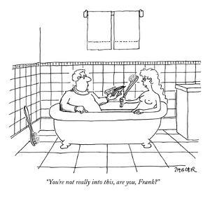 """""""You're not really into this, are you, Frank?"""" - New Yorker Cartoon by Jack Ziegler"""