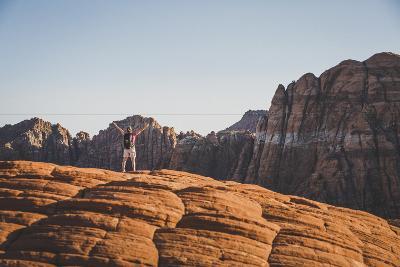 Jacki Arevalo Hiking The Petrified Sand Dunes, Snow Canyon State Park, Utah-Louis Arevalo-Photographic Print