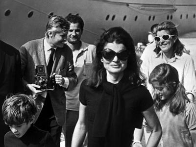 Jackie Bouvier Kennedy, Future Mrs Onassis, with John F. Kennedy Jr and Caroline Kennedy