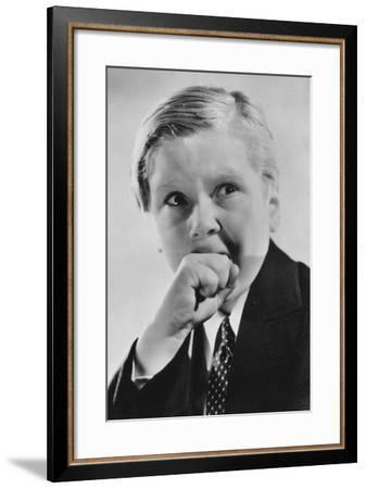 Jackie Cooper (B192), American Actor, 20th Century--Framed Photographic Print