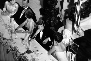 Jackie Kennedy Talks with President Kennedy at America's Cup Dinner, Sept. 1962