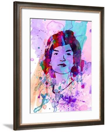 Jackie Kennedy Watercolor-Anna Malkin-Framed Art Print