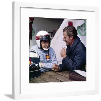 Jackie Stewart and Graham Hill Chatting, Monaco Grand Prix, Monte Carlo, 1966--Framed Photographic Print