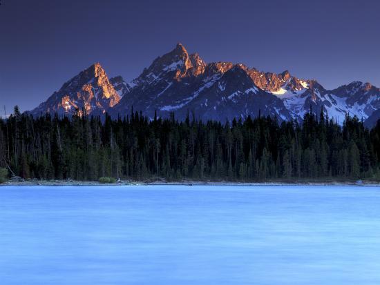 Jackson Lake and Tetons at Sunrise, Grand Teton National Park, Wyoming-Keith Ladzinski-Photographic Print