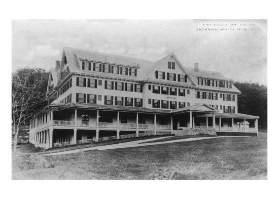 Jackson, New Hampshire - Exterior View of the Eagle Mountain House, White Mountains, c.1922-Lantern Press-Art Print