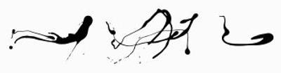 Zeichnung Tropftechnik by Jackson Pollock
