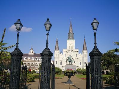Jackson Square, New Orleans, Louisiana, USA-Charles Bowman-Photographic Print