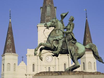 Jackson Square, St. Louis Cathedral, New Orleans, Louisiana, USA-Charles Bowman-Photographic Print