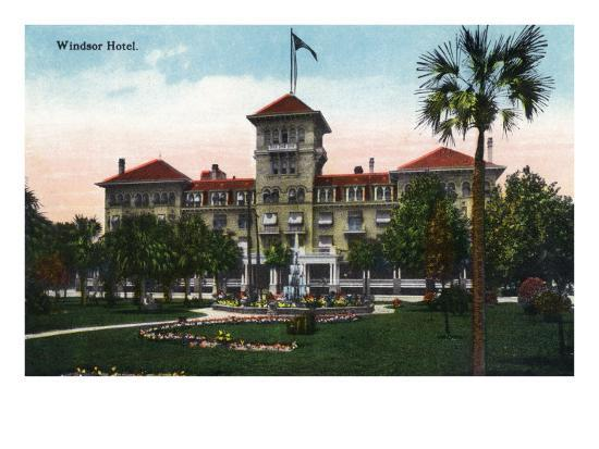 Jacksonville, Florida, Exterior View of the Windsor Hotel-Lantern Press-Art Print