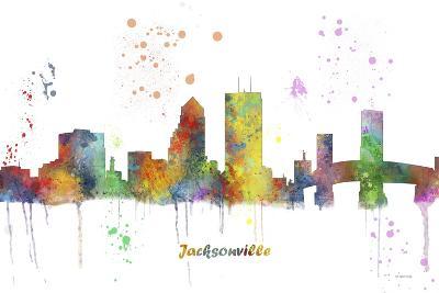 Jacksonville Florida Skyline MCLR 1-Marlene Watson-Giclee Print
