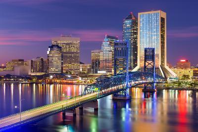 Jacksonville, Florida, USA Downtown City Skyline.-SeanPavonePhoto-Photographic Print