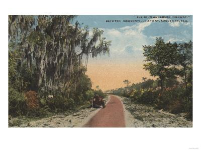 Jacksonville, Florida - View of John Anderson Hwy-Lantern Press-Art Print