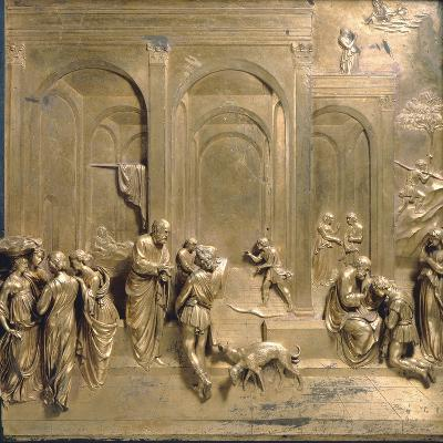 Jacob and Esau from the Gates of Paradise-Lorenzo Ghiberti-Photographic Print