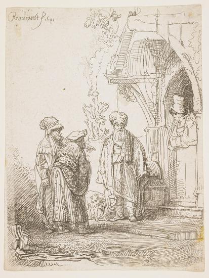 Jacob and Laban, 1641-Rembrandt van Rijn-Giclee Print
