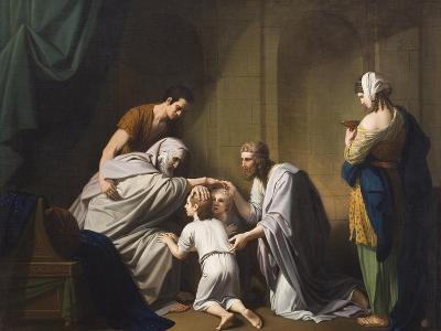 Jacob Blessing Ephraim and Manasseh, 1766-68-Benjamin West-Giclee Print