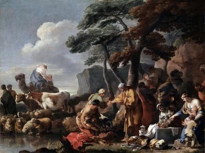 Jacob Burying the Strange Gods under the Oak by Shechem, 17th Century-Sébastien Bourdon-Giclee Print