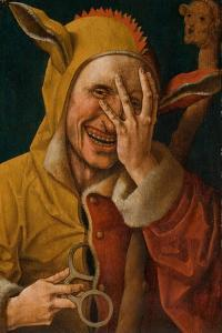 Laughing Fool, C.1500 by Jacob Cornelisz van Oostsanen