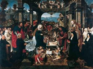 The Adoration of the Christ Child with the Boelen Family by Jacob Cornelisz van Oostsanen