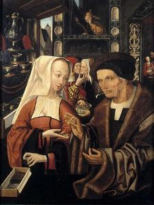 The Spectacles Seller by Jacob Cornelisz van Oostsanen