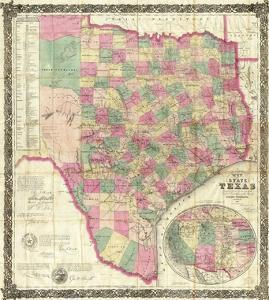 The State of Texas, c.1867 by Jacob De Cordova