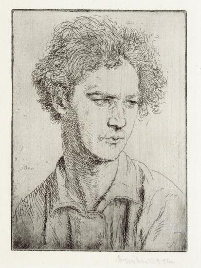 Jacob Epstein-Augustus Edwin John-Giclee Print