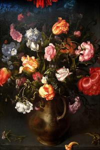Still Life of a Vase with Flowers by Jacob Gossamer