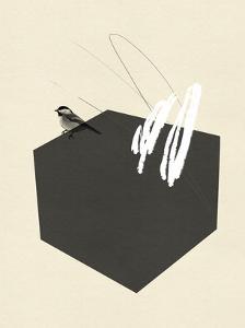 Steel Sequin with Bird II by Jacob Green