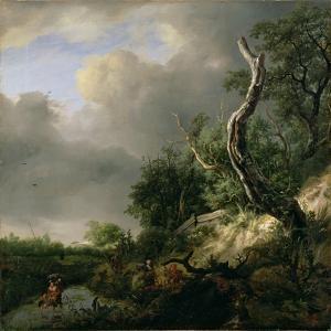 The Dunes Near Haarlem by Jacob Isaaksz^ Or Isaacksz^ Van Ruisdael