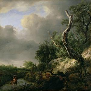 The Dunes Near Haarlem by Jacob Isaaksz. Or Isaacksz. Van Ruisdael