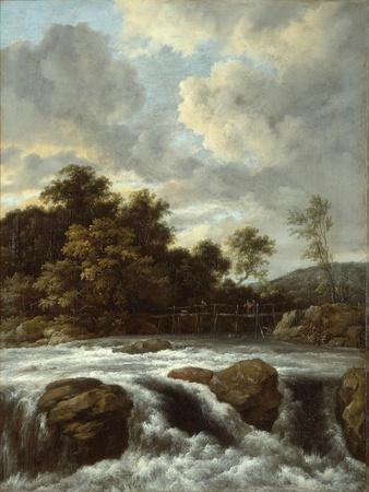 Landscape with Waterfall, C.1665