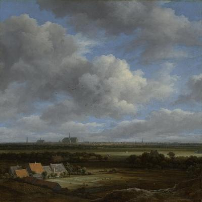View of Haarlem from the Northwest with the Bleaching Fields in the Foreground, C.1650-82