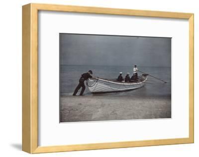 Coastguardsmen Go Out in their Boat