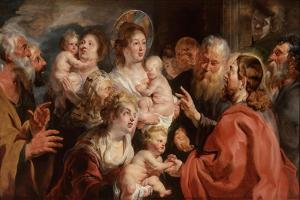 Suffer the Little Children to Come Unto Me, 1615-16 by Jacob Jordaens