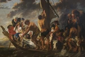 The Apostle Peter Finding the Tribute Money in the Mouth of the Fish. also Called The Ferry Boat to by Jacob Jordaens
