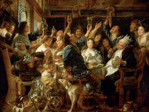 The Feast of the Bean King, Ca 1640-1645 by Jacob Jordaens