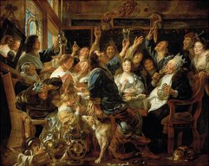 The Feast of the Bean King by Jacob Jordaens