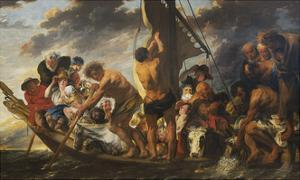 The Ferry Boat to Antwerp, c.1623 by Jacob Jordaens