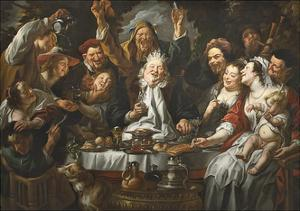 The King Drinks a Twelfth Night Feast, C.1645 by Jacob Jordaens