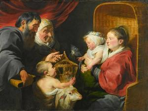 The Virgin and Child with St. John and His Parents, c.1617-1618 by Jacob Jordaens