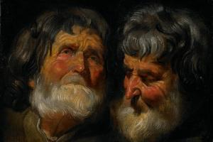 Two Studies of the Head of an Old Man, C.1630 by Jacob Jordaens