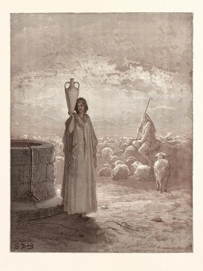 Jacob Killing Laban's Flocks-Gustave Dore-Giclee Print