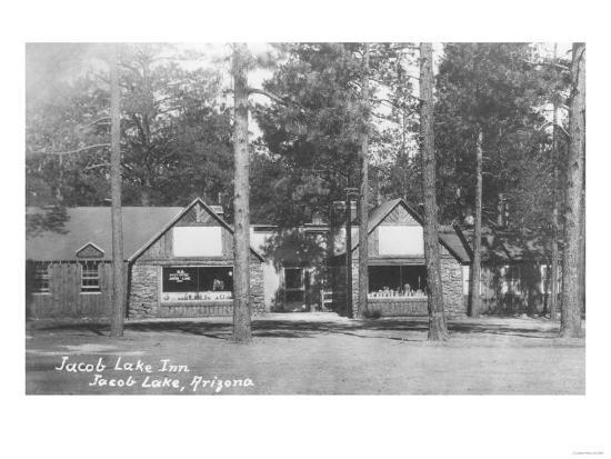 Jacob Lake Inn in Jacob Lake, Arizona Photograph - Jacob Lake, AZ-Lantern Press-Art Print