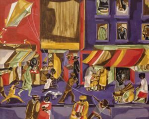 Street Scene (Boy with Kite), 1962 by Jacob Lawrence