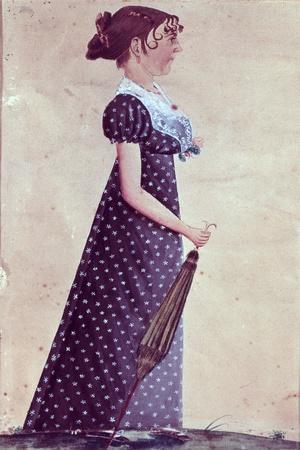 Girl with Green Umbrella, C.1835